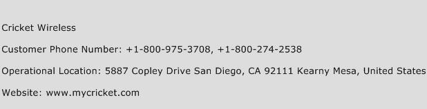 Cricket Wireless Phone Number Customer Service