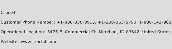 Crucial Phone Number Customer Service