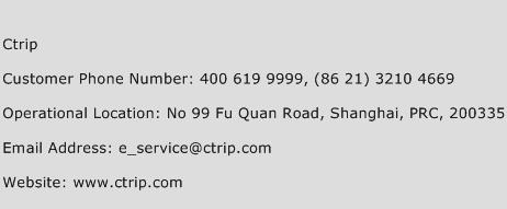 Ctrip Phone Number Customer Service
