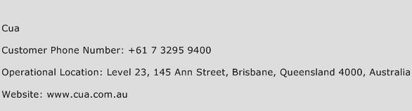 Cua Phone Number Customer Service