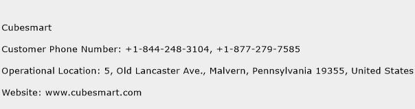 CubeSmart Phone Number Customer Service