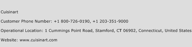 Cuisinart Phone Number Customer Service