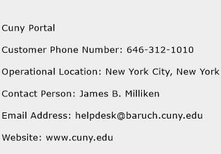Cuny Portal Phone Number Customer Service