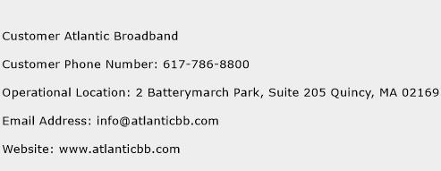Customer Atlantic Broadband Phone Number Customer Service