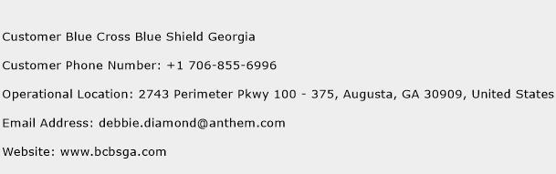 Customer Blue Cross Blue Shield Georgia Phone Number Customer Service