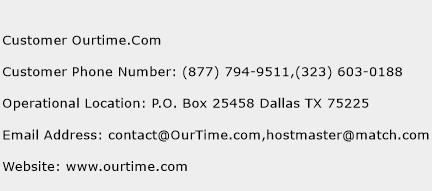 Customer Ourtime.Com Phone Number Customer Service
