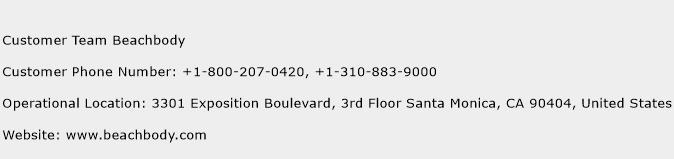 Customer Team Beachbody Phone Number Customer Service