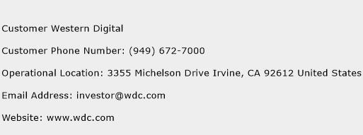 Customer Western Digital Phone Number Customer Service