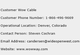 Customer Wow Cable Phone Number Customer Service