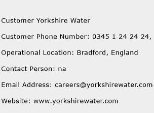 Customer Yorkshire Water Phone Number Customer Service