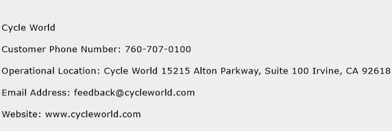 Cycle World Phone Number Customer Service