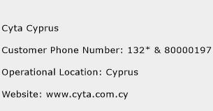 Cyta Cyprus Phone Number Customer Service