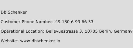 DB Schenker Phone Number Customer Service