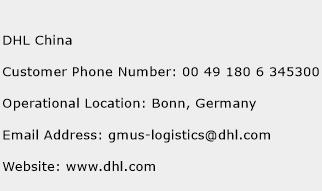 DHL China Phone Number Customer Service