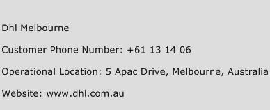 DHL Melbourne Phone Number Customer Service