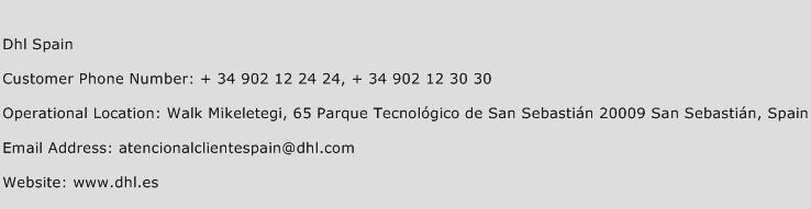 DHL Spain Phone Number Customer Service