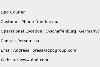 DPD Courier Phone Number Customer Service