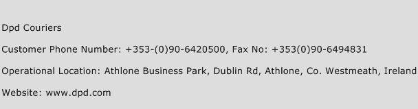 dpd courier contact number