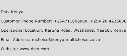 DSTV Kenya Phone Number Customer Service
