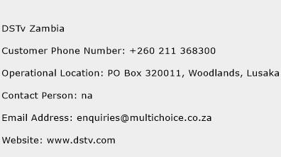 DSTv Zambia Phone Number Customer Service
