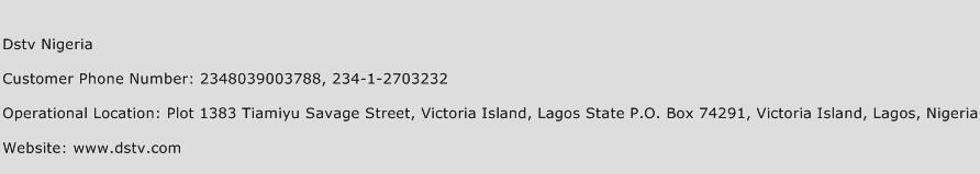 DStv Nigeria Phone Number Customer Service