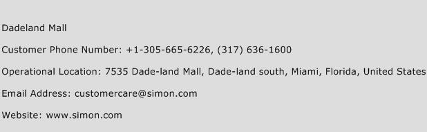 Dadeland Mall Phone Number Customer Service
