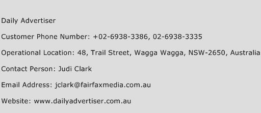 Daily Advertiser Phone Number Customer Service