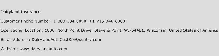 Dairyland Insurance Number | Dairyland Insurance Customer ...
