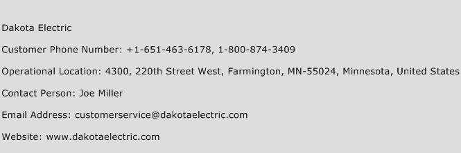 Dakota Electric Phone Number Customer Service
