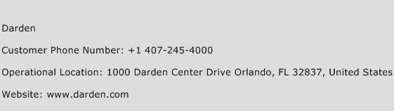 Darden Phone Number Customer Service