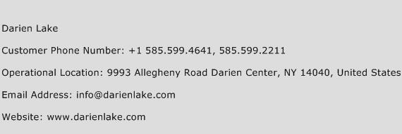 Darien Lake Phone Number Customer Service