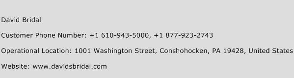 David Bridal Phone Number Customer Service