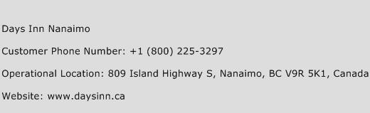 Days Inn Nanaimo Phone Number Customer Service