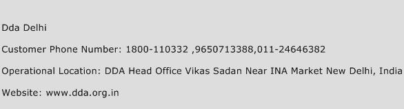 Dda Delhi Phone Number Customer Service
