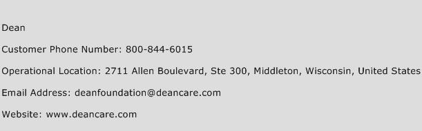 Dean Phone Number Customer Service