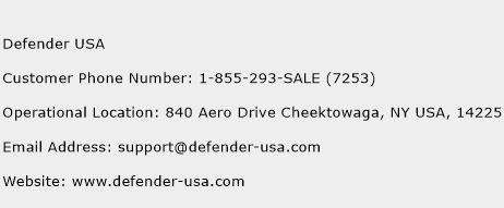 Defender USA Phone Number Customer Service