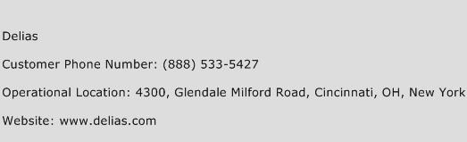 Delias Phone Number Customer Service
