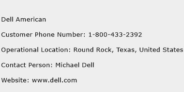 Dell American Phone Number Customer Service