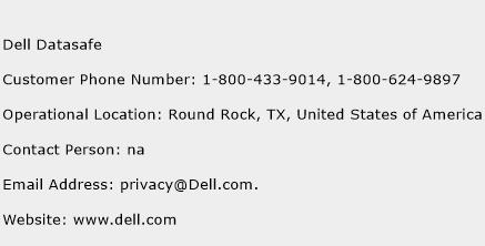 Dell Datasafe Phone Number Customer Service