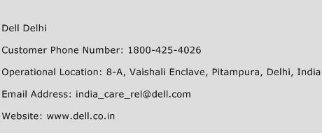 Dell Delhi Phone Number Customer Service