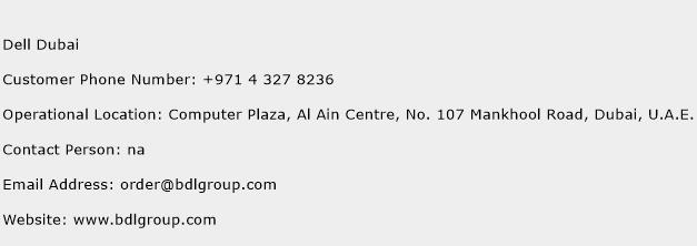 Dell Dubai Phone Number Customer Service