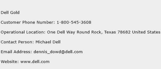 Dell Gold Phone Number Customer Service