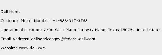 Dell Home Phone Number Customer Service
