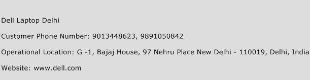 Dell Laptop Delhi Phone Number Customer Service