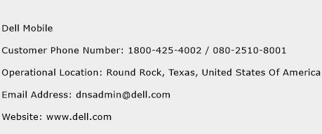 Dell Mobile Phone Number Customer Service