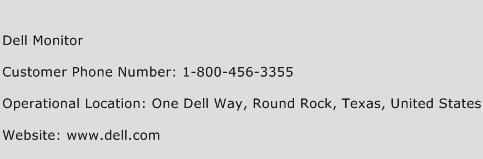 Dell Monitor Phone Number Customer Service