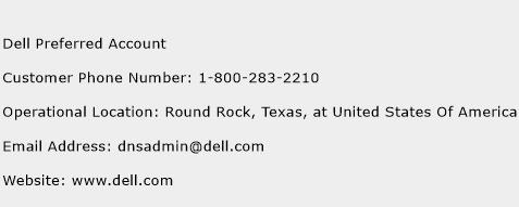 Dell Preferred Account Phone Number Customer Service