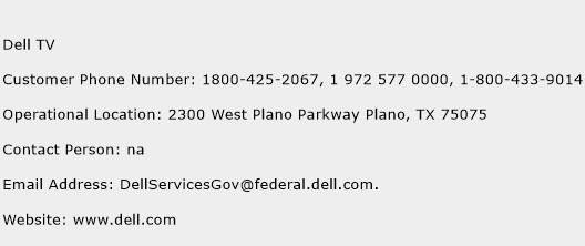 Dell TV Phone Number Customer Service