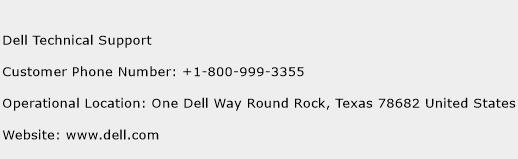 Dell Technical Support Phone Number Customer Service