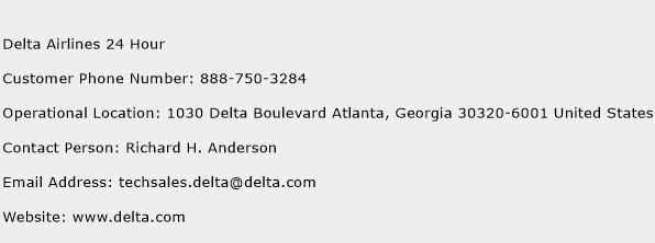 Delta Airlines 24 Hour Phone Number Customer Service